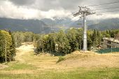 picture of ropeway  - Object ropeway on the of mountain - JPG