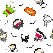 Seamless Halloween pattern (raster version)