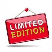 limited and exclusive edition or offer. Restricted and temporal promotion icon or sign.