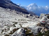 Brenta Dolomites Mountain Views In The Area Of ??alfredo Sentiero Path And Pass Grost�, Italy