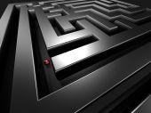 Lost In The Maze Concept