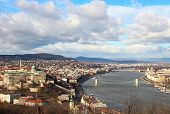 Beautiful View On Danube River And Budapest