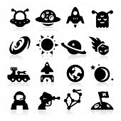 stock photo of alien  - Space Icons two - JPG
