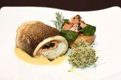Fish in white plate