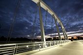 The new Main Street Bridge in Columbus, Ohio is one of the city's newest landmarks
