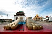 Gandantegchenling Buddhist temple in Ulaanbaatar, Mongolia