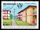 Postage Stamp Nicaragua 1987 Housing, Shelter For The Homeless