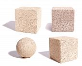 Cubes And Sphere Of Stone Texture