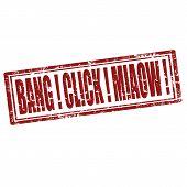 Bang!click!miaow!-stamp