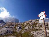 Brenta Dolomites Mountain Views In The Area Of ??alfredo Sentiero Path And Pass Groste