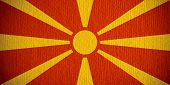pic of macedonia  - flag of Macedonia or Macedonian banner on paper background - JPG