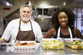 image of homeless  - Portrait Of Kitchen Staff In Homeless Shelter - JPG