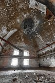 stock photo of malt  - an old desolate brewery malt dryer room - JPG