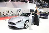 Bangkok - March 25 : Aston Martin Db9 Car With Unidentified Model On Display At The 35Th Bangkok Int