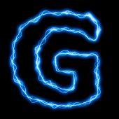 Electric Lightning Letter Or Font