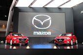 Nonthaburi - March 25: Mazda Mazda3 Cars On Display At The 35Th Bangkok International Motor Show On