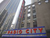 New York City landmark, Radio City Music Hall in Rockefeller Center