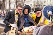 ODESSA, UKRAINE - APRIL 1: participants of a festival Humorina in Odessa on April 1, 2014. Humorina is a great humor fest, annually held in Odessa on the April Fool's Day