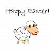 A Funny Cartoon Easter Sheep