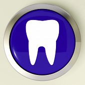 Tooth Button Means Dental Appointment Or Teeth