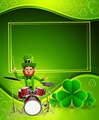 Leprechaun for patrick's day with drums