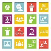 Meet People Online Icons Set