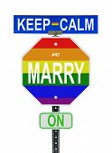 image of same sex marriage  - A parody of the popular 1939 UK government motivational slogan changing a C to a M in reference to the 2014 legalization of same sex marriages in the United Kingdom - JPG