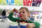 Child Eating Ice Cream
