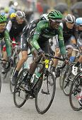 BARCELONA - MARCH, Kevin Reza of Team Europcar rides during the Tour of Catalonia cycling race throu
