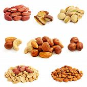 picture of ground nut  - Nuts collection isolated on a white background - JPG