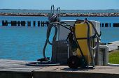 image of septic  - Septic pump out station at a marina in Palacios - JPG