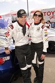 LONG BEACH - APR 1: Sam Witwer, Tricia Helfer at the 37th Annual Toyota Pro/Celebrity Race Practice