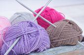 Pile Of Knitting Wool
