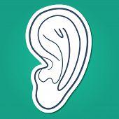Ear hearing symbol.
