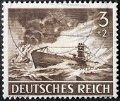 German Submarine Stamp