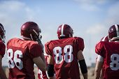 stock photo of red back  - american football - JPG