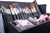 Professional Make-up Case Full Of Make-up Tools