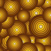 Seamless Concentric Circle Pattern In Orange Yellow