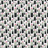 Seamless Lipstick Pattern Backdrop On White