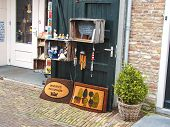 Showcase Souvenir Shop In The Dutch Town Of Heusden