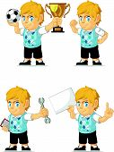 Blonde Rich Boy Customizable Mascot 18