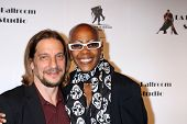 LOS ANGELES - MAR 31:  Michael Stoyanov, Debra Wilson at the LA Ballroom Studio Grand Opening at LA
