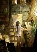 digital painting small art studio