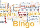 Bingo Spiel Hintergrund Konzept