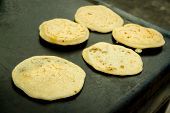 making typical tortillas from guatemala