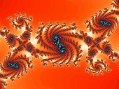 Decorative fractal background with spiral