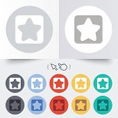 Star sign icon. Favorite button. Navigation
