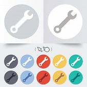 Wrench key sign icon. Service tool symbol.