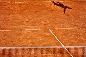 Tennis Serve Shadow
