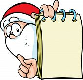Santa Claus With Special Offer - Holding Paper Block